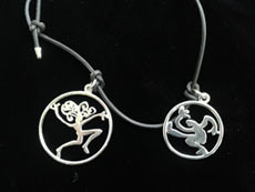 Man and woman in circle bracelet